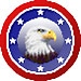Patriotic Eagle Pixel Art