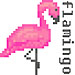 Flamingo Pixel Art