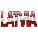 Latvia Bubble Letters